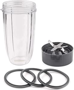 CloudCUP 32oz Cup & Blade & Gaskets Set, Nutribullet Replacement Cup 32oz for Blender, Bullet Blender Replacement Cups Large, Nutribullet Parts Compatible with Nutribullet Pro 900/600 Series