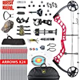 """XQMART Compound Bow Package Right Handed,for Adults,with Hunting Accessories,Bow and Arrows,19-30"""" Draw Length,15-70Lbs Draw Weight (Ship from USA Warehouse)"""