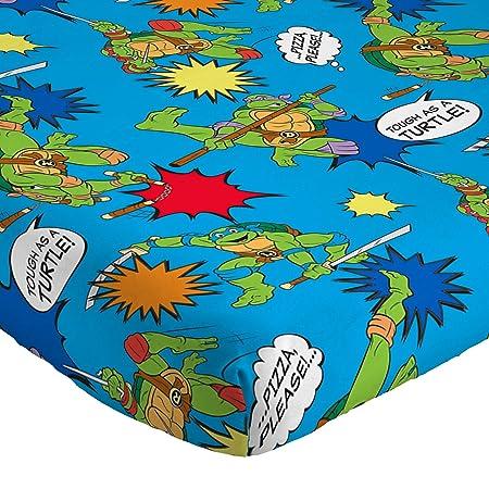 Nickelodeon Teenage Mutant Ninja Turtles Heroes Blue 3 Piece Twin Sheet Set (Official Nickelodeon Product)