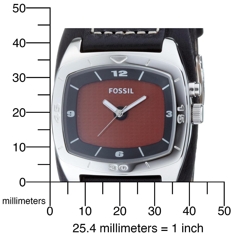 Fossil Herrenarmbanduhr Big Tic Leder Schwarz Am3696