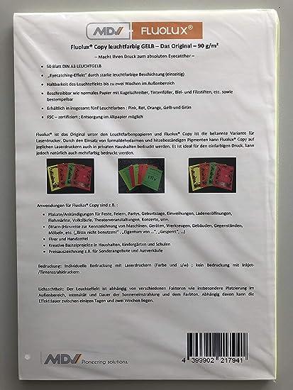 Fluolux® Copy Amarillo Brillante Papel - Original - 90 g/m2-50 ...