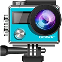 Campark Action Camera ACT73R 4K WiFi Waterproof Camera 2 Inch LCD Screen 170 Degree Wide Angle,Remote Control 2 Pcs Rechargeable Batteries and Portable Package