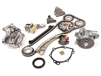 Evergreen TK8004WOPT Chevrolet Suzuki J18A J20A Timing Chain Kit, Oil Pump,  and Water Pump (with Gears)