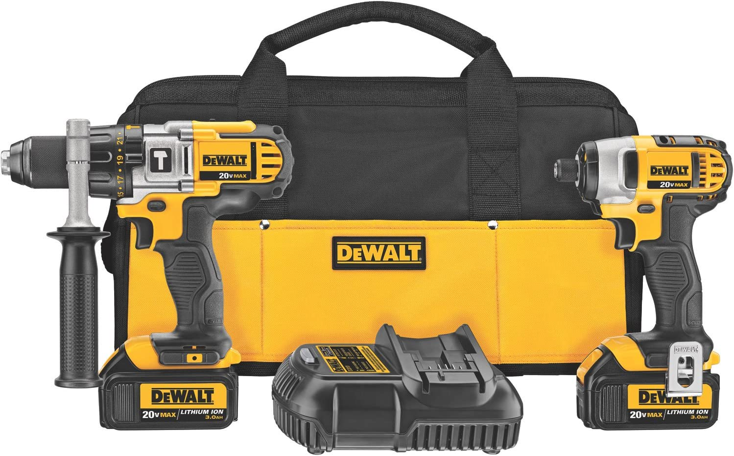 SmartEco 20V Lithium Ion Cordless 3-Tools Drill Driver Impact Driver Combo Kit with LED worklight 3 YEAR WARRANTY, 2x 2Ah batteries 1 battery charger included