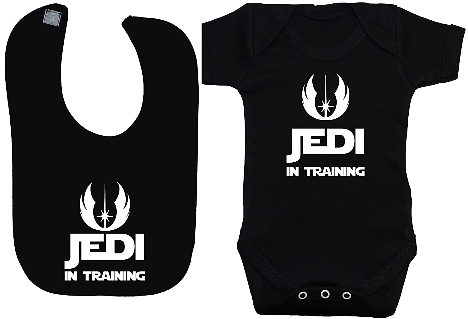 Jedi in Training body para bebé/bebé/chaleco/camiseta y alimentación babero Set Star Wars 0 A 12 meses