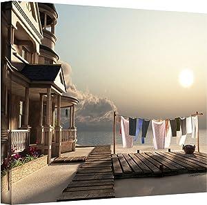 ArtWall 0dec015a2432w Cynthia Decker's Laundry Day, Gallery-Wrapped Canvas, 24-Inch x 32-Inch