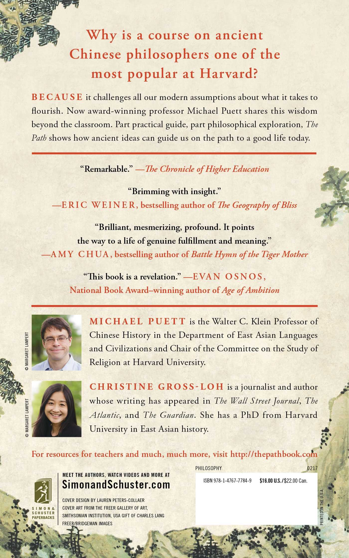 The Path: What Chinese Philosophers Can Teach Us About The Good Life:  Michael Puett, Christine Grossloh: 9781476777849: Amazon: Books