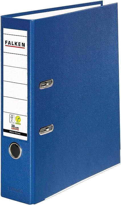 Falken Ordner Din A5 5cm schmal schwarz Aktenordner Büroordner Briefordner hoch