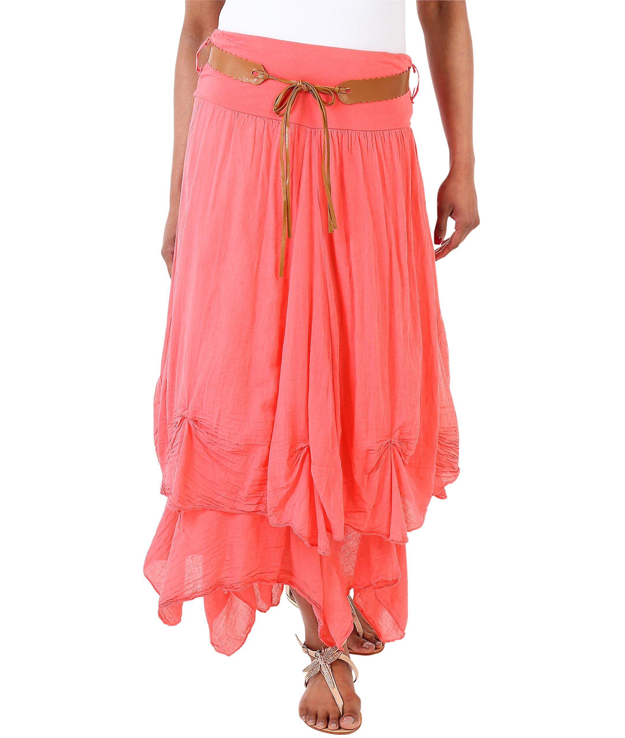 KRISP Cotton Skirt (FBA_USA7847-COR-08)
