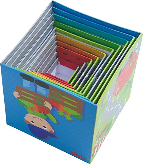 Stapelspiele Kinderspiele Spielzeug HABA Stapelwürfel Flotte Flitzer 10-tlg