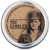 The Gambler Solid Cologne: Bourbon, Tobacco, and Leather (Men's or Women's Cologne)
