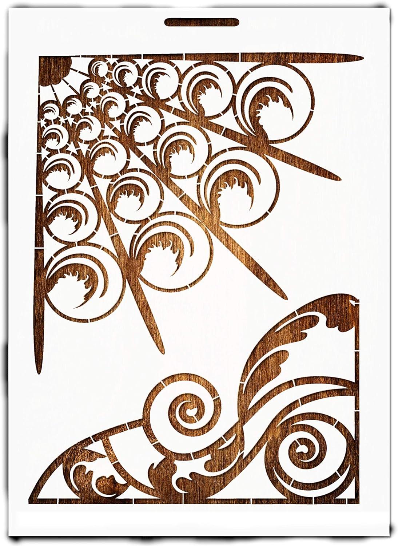 Boutique dIacrea Schablone Mylar 21 x 29,7 cm Kunststoff Format A4