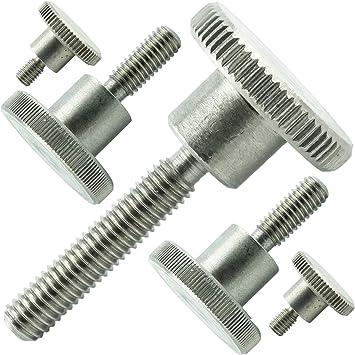 1 St/ück Eisenwaren2000 - hohe Form Edelstahl A1 1.4305 VA rostfrei M5 x 6 mm DIN 464 R/ändelschrauben