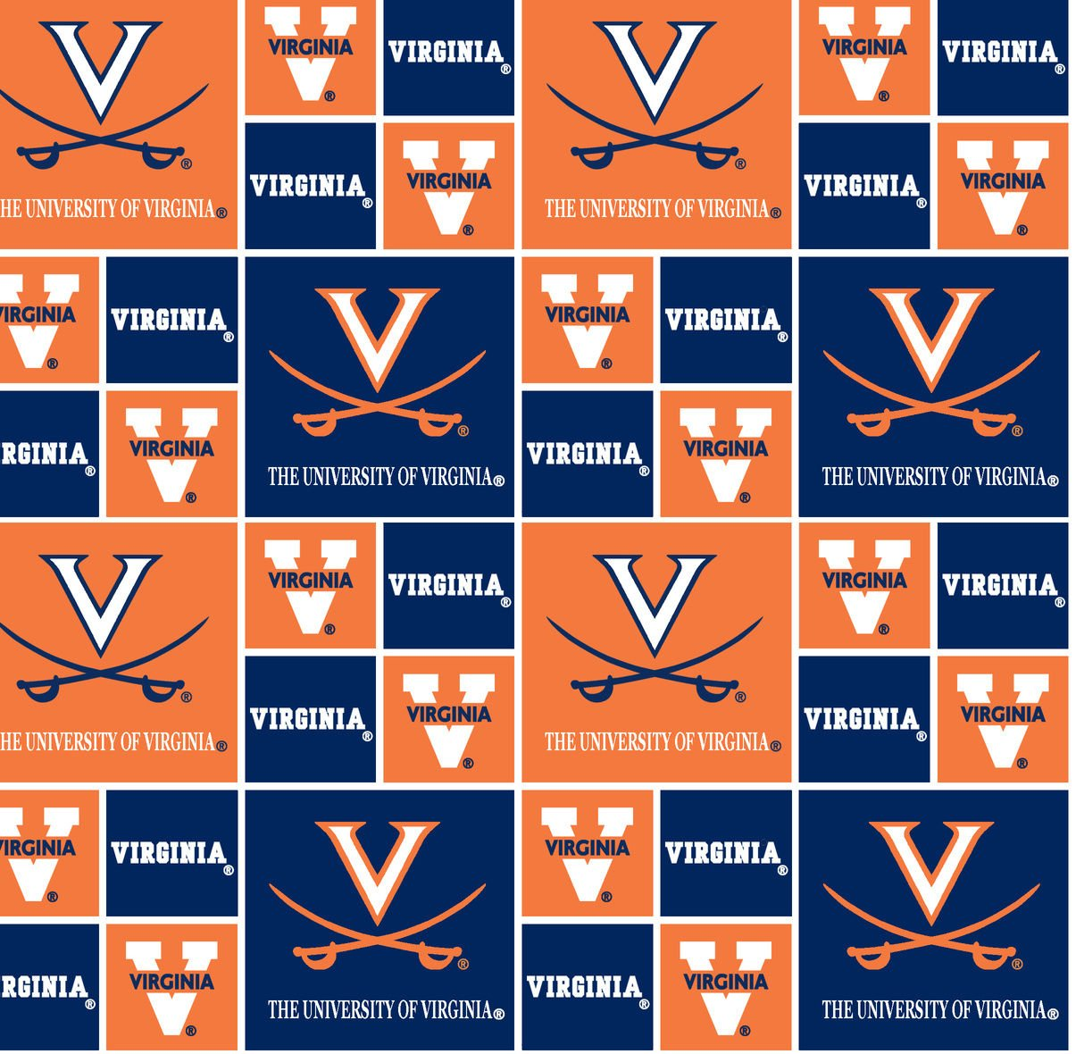 University of Virginia Cotton Fabric - Sold By the Yard by Field's Fabrics   B005PYLKY6