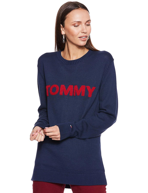 TALLA L. Tommy Jeans Hombre Bold Logo  suéter Manga Larga