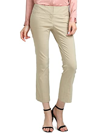 f8b25b416a8 ATOUR Women s Bootcut Dress Pants Stretch Comfy Work Trousers Office Wear  Casual Ladies Pant Kahki Size