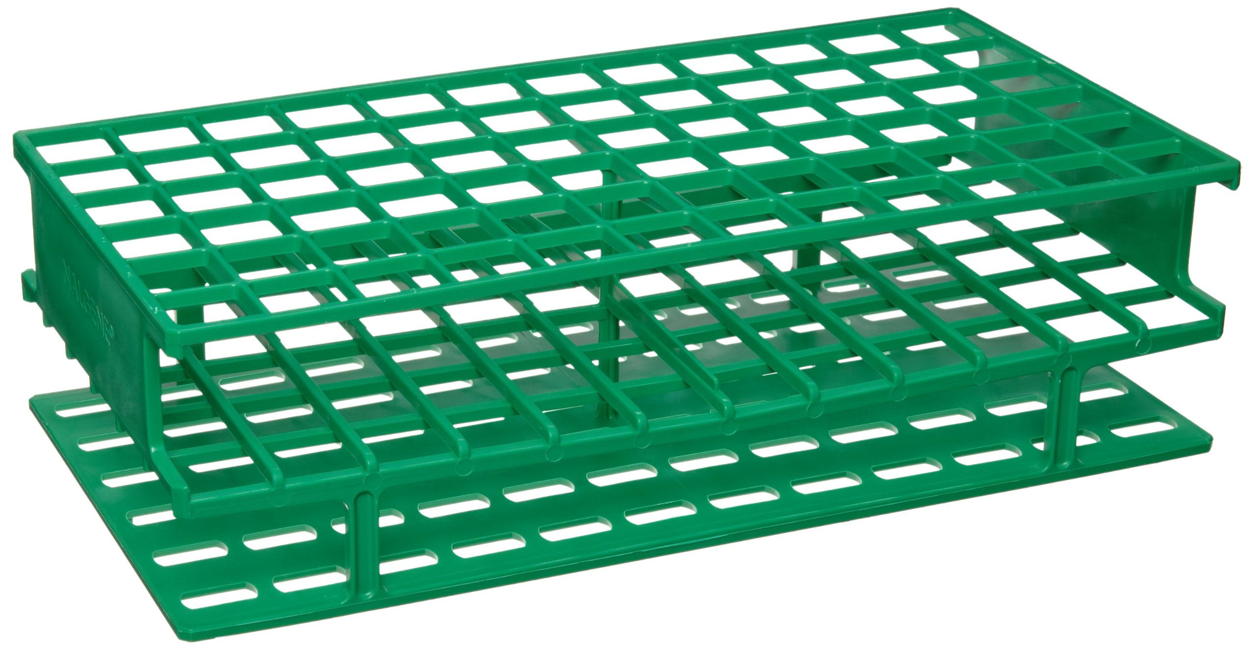 Nalgene 5976-0416 Polypropylene Unwire Test Tube Rack for 16mm Test Tubes, Green