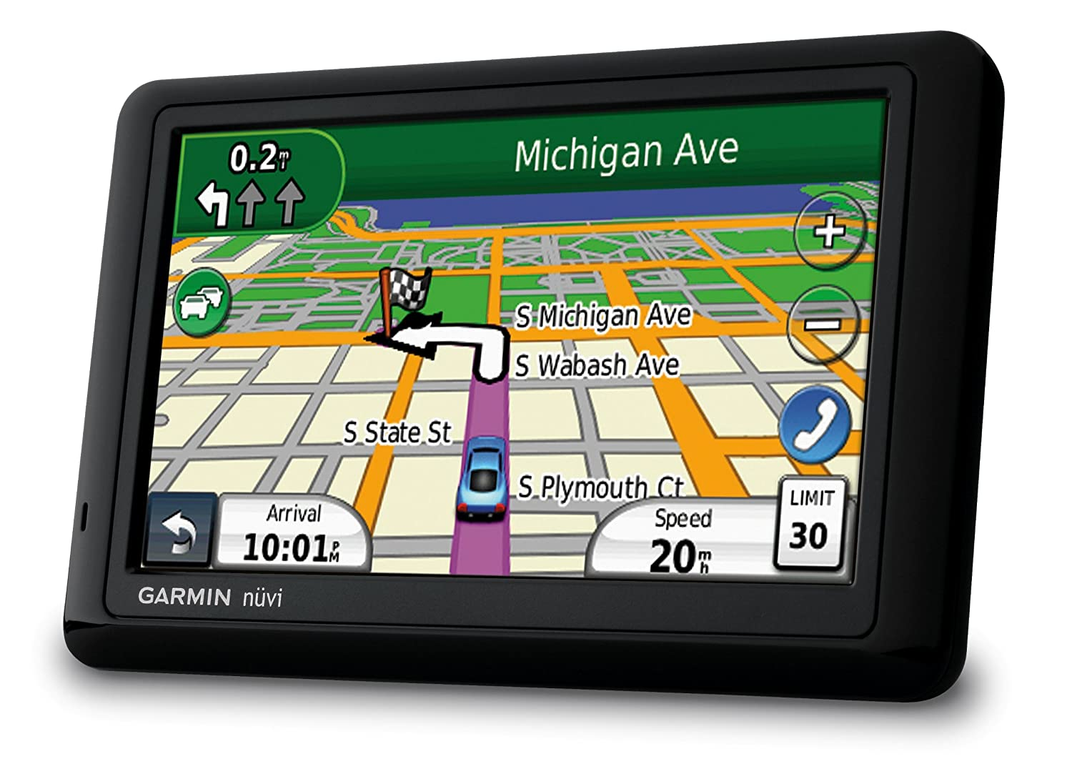 Amazon com garmin nuvi 1490 1490t 5 inch widescreen bluetooth portable gps navigator with lifetime traffic discontinued by manufacturer home audio