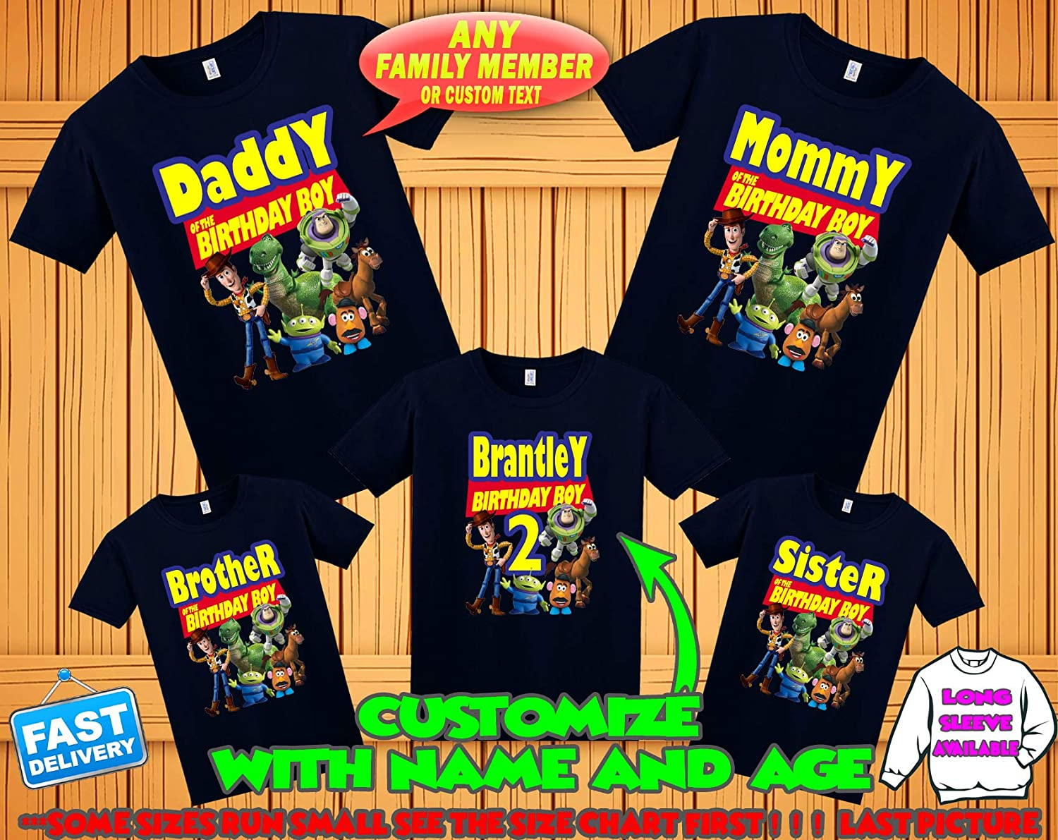 b6cbcee6e987f Toy Story Birthday Shirt, Toy Story Custom Shirt, PersonalizedToy Story  Shirt,Toy Story family shirts, Birthday t-shirt for girls and boys
