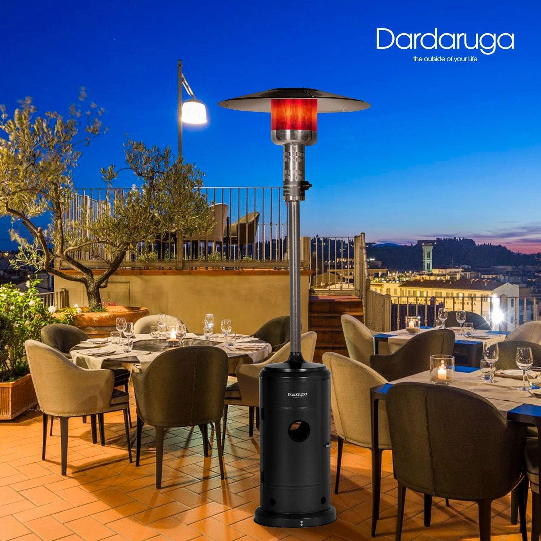 Dardaruga Estufa de seta calefactora termopatio de calor 13,5 kW verde calefacci/ón para exteriores