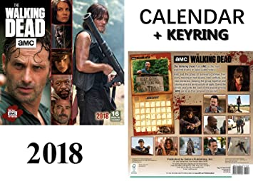 The Walking Dead Amc Official Calendario 2018 + Walking Dead ...