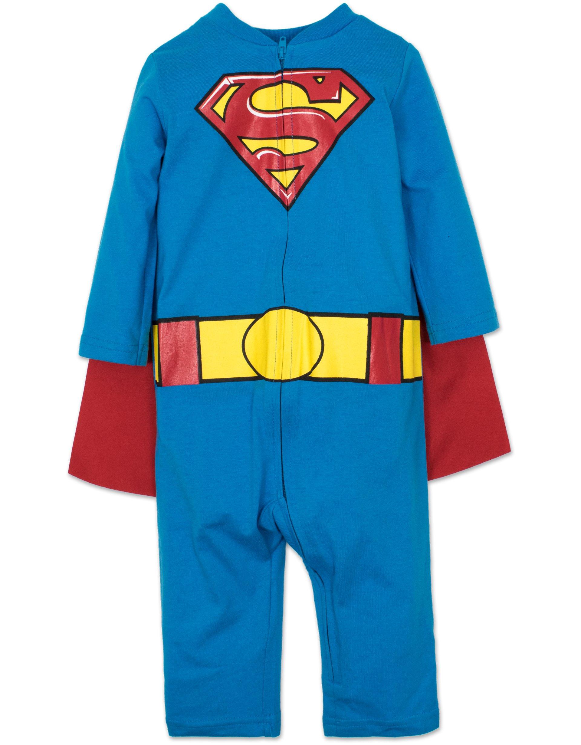 Warner Bros. Batman & Superman Baby Boys' Costume Coveralls with Cape