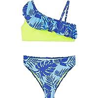 Conjunto de Bikini de Dos Piezas para niñas, Traje de baño con Volantes de Flamenco, Traje de baño Deportivo de Verano…