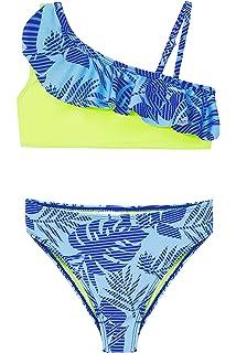 SHEKINI Ni/ña Traje de Ba/ño de Dos Piezas Ruffle Bikini Ba/ñadores Impresos Traje de Ba/ño
