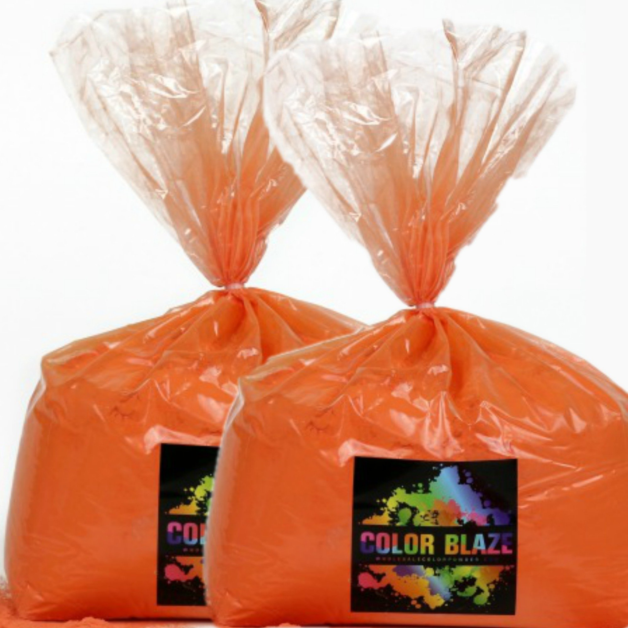 Color Powder Orange 50lbs - (Two 25lb bags) Ideal for color run events, youth group color wars, Holi events and more! Purple, Blue, Green, Yellow, Red, Pink and Teal Available