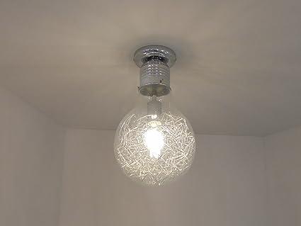 Plafoniere Con Lampadina A Vista : Nadia p22 plafoniera lampadario moderno a forma di lampadina Ø 22
