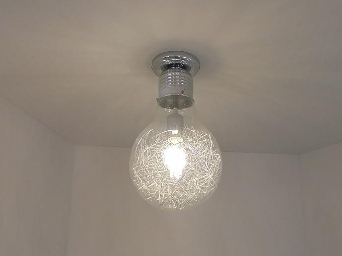 Plafoniera Con Lampada A Vista : Plafoniera lampadario moderno forma di lampadina amazon