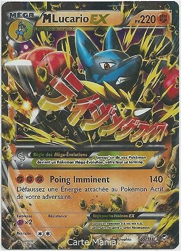 Carte Pokemon 55 111 M Mega Lucario Ex 220 Pv Holo Serie Xy Poings Furieux Neuve Fr Carte Mania Votre Specialiste Amazon Fr Jeux Et Jouets