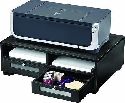 Victor soporte para impresora con dos estantes, color negro ...