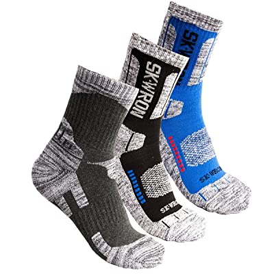 3Pack Men's Antiskid Wicking Multi Performance Outdoor Hiking Camping Cushion Socks