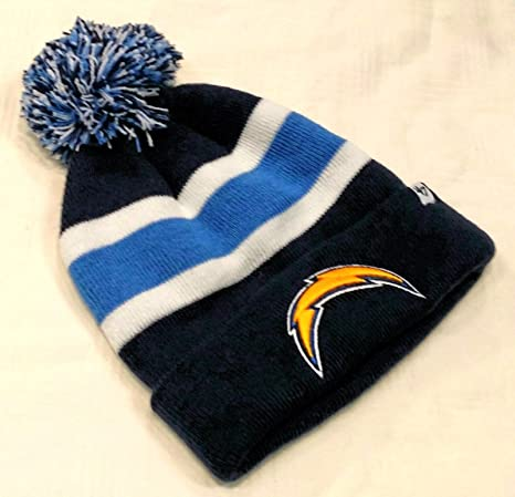 47 San Diego Chargers Blue Cuff Breakaway Beanie Hat with Pom - NFL Cuffed  Winter Knit Toque Cap 082660a8f19