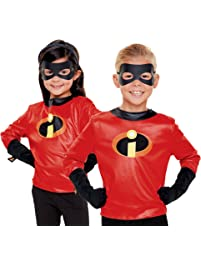 3D Character Creator 74943-PLY Disney's 2-Incredibles Dress up Set-Shirt with Logo, Gloves & Eye Mask