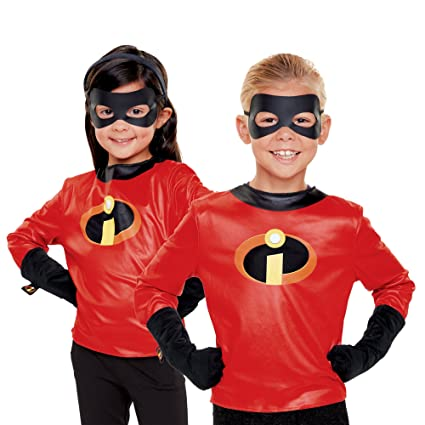 the incredibles 2 incredibles dress up set shirt with logo gloves eye mask