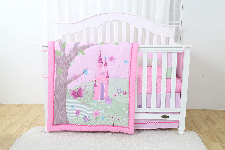 Decotex 4 Piece Princess Castle Baby Nursery Crib Bedding Set