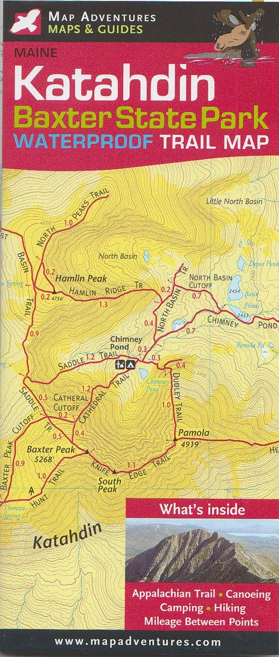 Katahdin; Baxter state Park Trail Map: Steven Bushey, Steve ...
