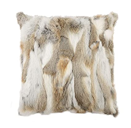 Rabbit Fur Pillow Cover
