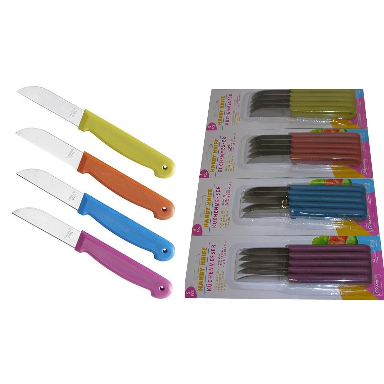 20x scharfe Küchenmesser Schälmesser Obstmesser Messer rostfrei Kunststoffgriff Cuisine Elegance