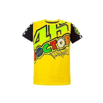 80d348b243 Valentino Rossi VR46 Moto GP Doctor Amarillo Niños Camiseta Oficial 2017   Amazon.es  Deportes y aire libre