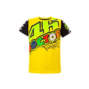 Valentino Rossi Vr46 Moto Gp The Doctor Gelb Kinder T Shirt