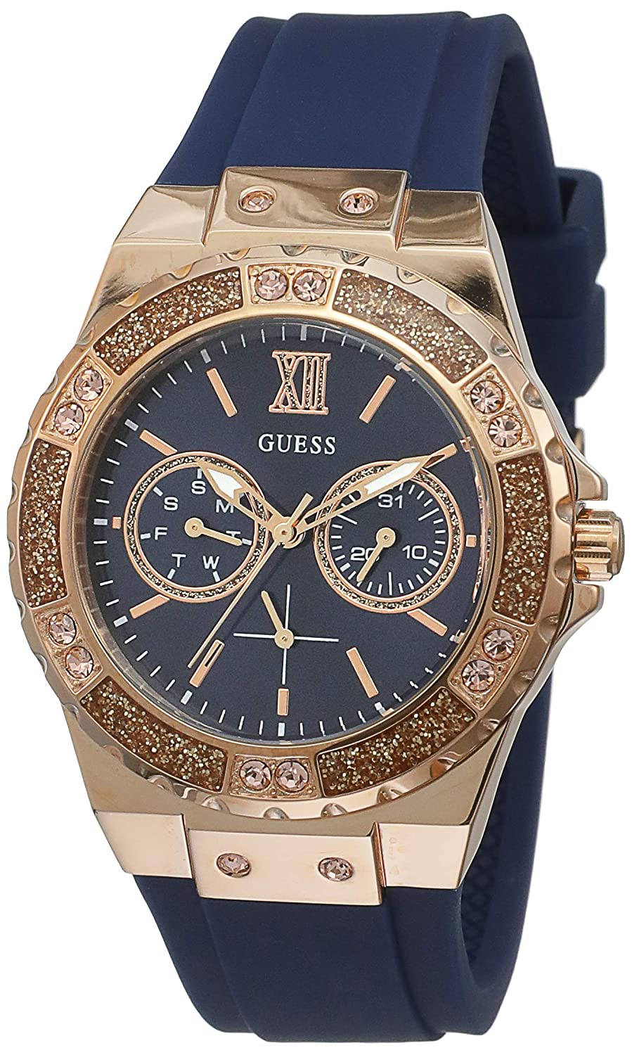 Amazon.com: Guess Multi-function Blue Dial Womens Watches - W1053L1: Watches