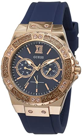 Guess Womens Analogue Quartz Watch with Silicone Strap W1053L1
