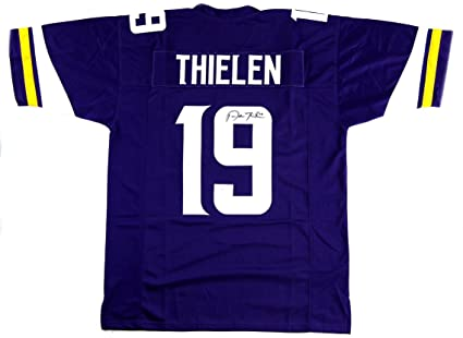 the best attitude 766a5 d5a13 Adam Thielen Autographed Jersey - Purple Custom ...