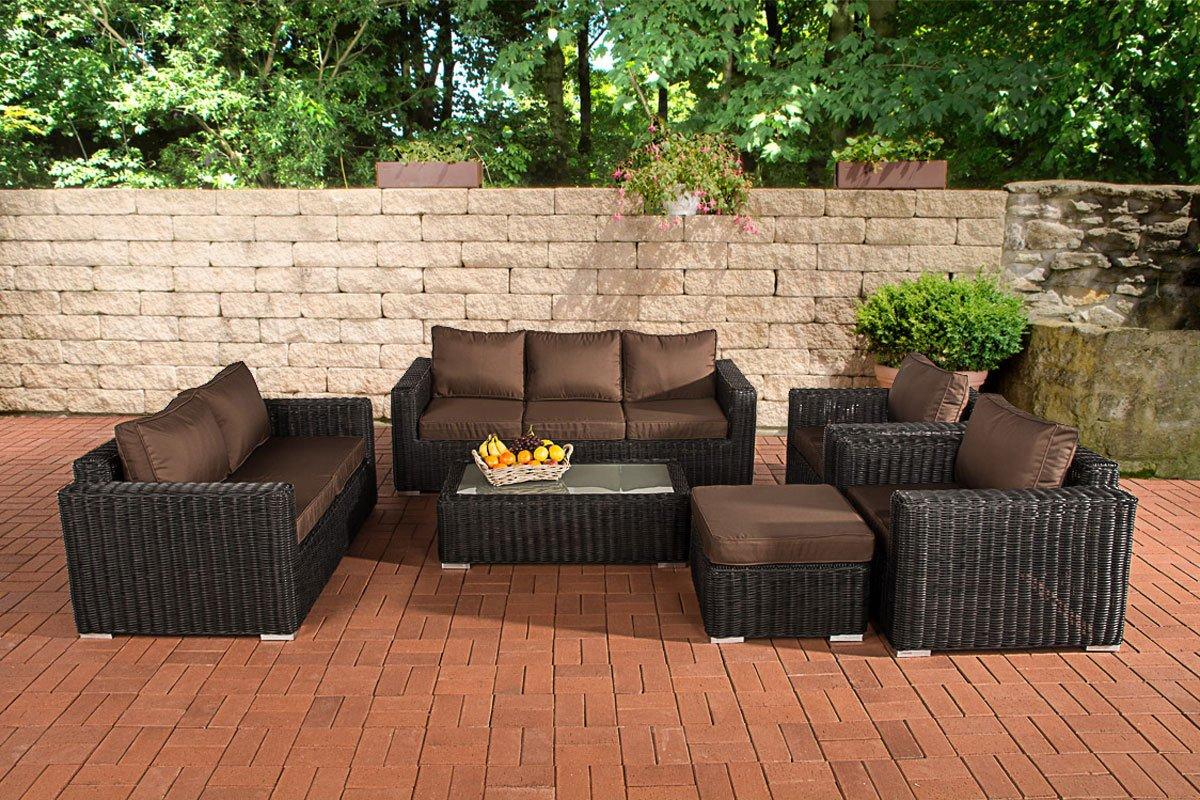 clp poly rattan loungem bel set madeira xl 3er sofa 2er. Black Bedroom Furniture Sets. Home Design Ideas