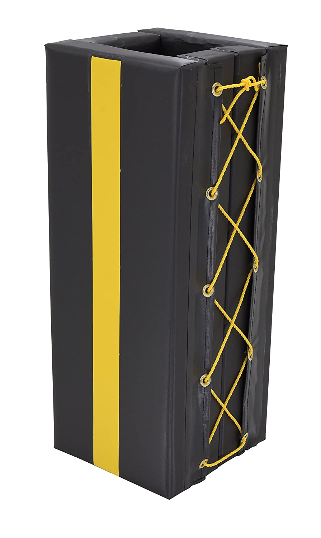 Black Vestil V-PAD-S-34 Vinyl Square Column Protective Pad I-Beam Fits 3 x 4 Beam