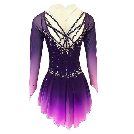 Vestidos de Competición de la Falda Spandex púrpura Vestido de ...