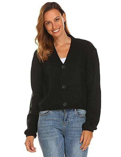 Dethler Women s Boyfriend Knitwear Oversize Chunky Cable Cardigan at ... 3a8c049b8